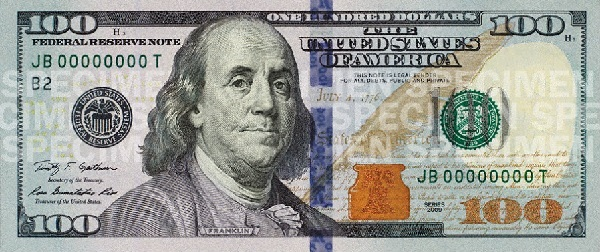 100 Bill Franklin