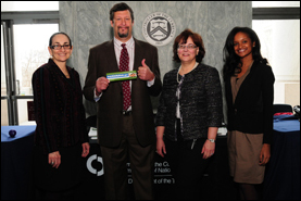 OCC's Beth Castro, Karen Bellesi, and Courtney Cook (left to right) join Derick Rill of the Federal Trade Commission to support the National Consumer Protection Week event on Capitol Hill.
