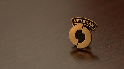 Closeup of OCC Veterans Pin