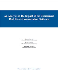 An Analysis of the Impact of the Commercial Real Estate Concentration Guidance Cover Image
