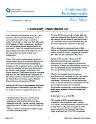 Community Reinvestment Act | OCC