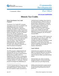Historic Tax Credits   OCC