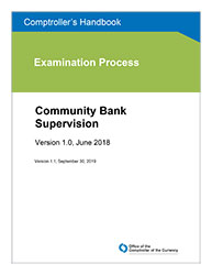 Comptroller's Handbook: Community Bank Supervision Cover Image