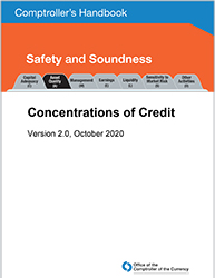 Comptroller's Handbook: Concentrations of Credit Cover Image