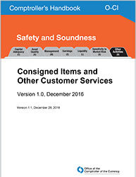Comptroller's Handbook: Consigned Items and Other Customer Services Cover Image
