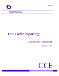 Comptroller's Handbook: Fair Credit Reporting Cover Image