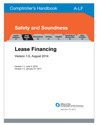 Comptroller's Handbook: Lease Financing Cover Image