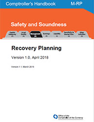 Comptroller's Handbook: Recovery Planning Cover Image