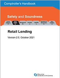 Comptroller's Handbook: Retail Lending Cover Image