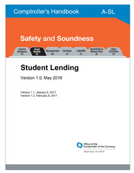 Comptroller's Handbook: Student Lending Cover Image