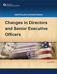 Licensing Manual - Changes in Directors and Senior Executive Officers Cover Image