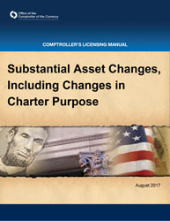 Licensing Manual - Substantial Asset Changes Cover Image