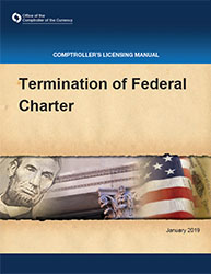 Licensing Manual - Termination of Federal Charter Cover Image