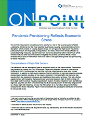On Point Cover Image: Pandemic Provisioning Reflects Economic