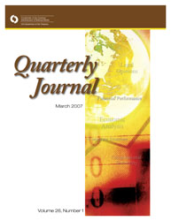 Quarterly Journal Volume 26 No. 1 Cover Image