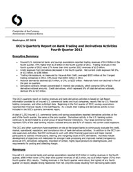 Quarterly Report on Bank Derivatives Activities: Q4 2012