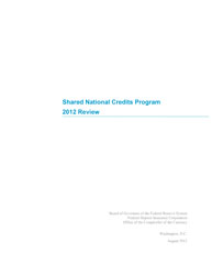 Shared National Credits 2012 Cover Image