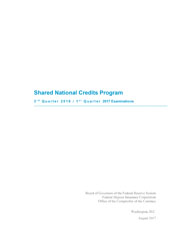 Shared National Credits 2017 Cover Image