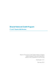 Shared National Credits 2020 Cover Image
