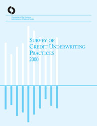 Survey of Credit Underwriting Practices 2000 Cover Image