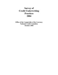 Survey of Credit Underwriting Practices 2004 Cover Image